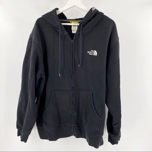 The north face black zip up hoodie